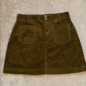 Madewell corduroy skirt size 8